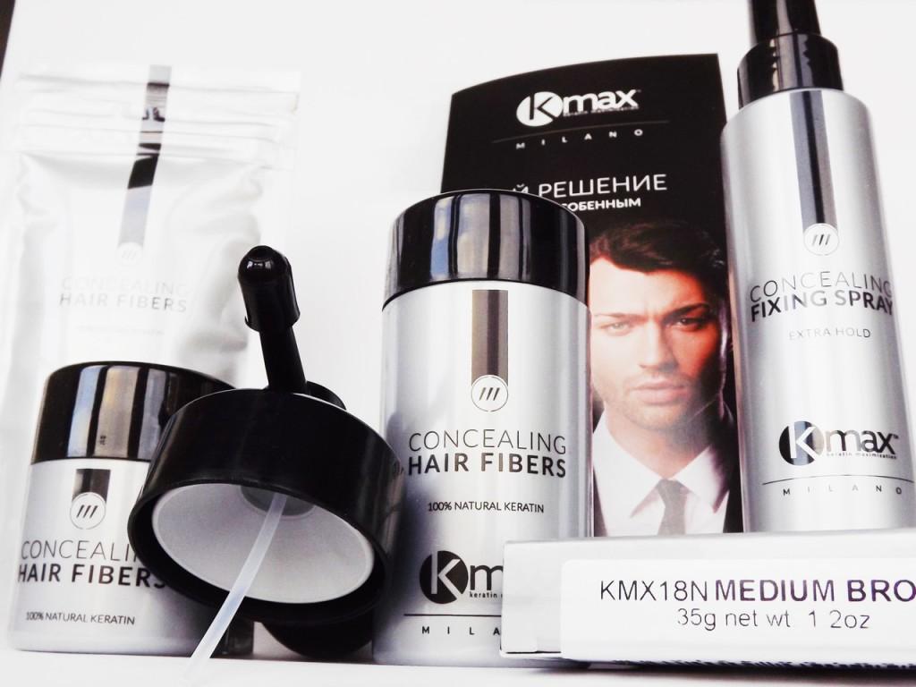 Итальянские средства для редких и тонких волос Kmax. Гаджет - укрыватель облысения