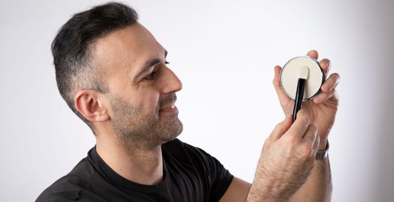 Аксессуары для укладки тонких волос Kmax_спонж для пудры