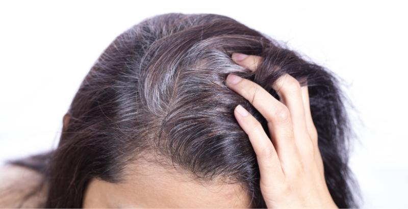 Седые волосы у женщины _ 6